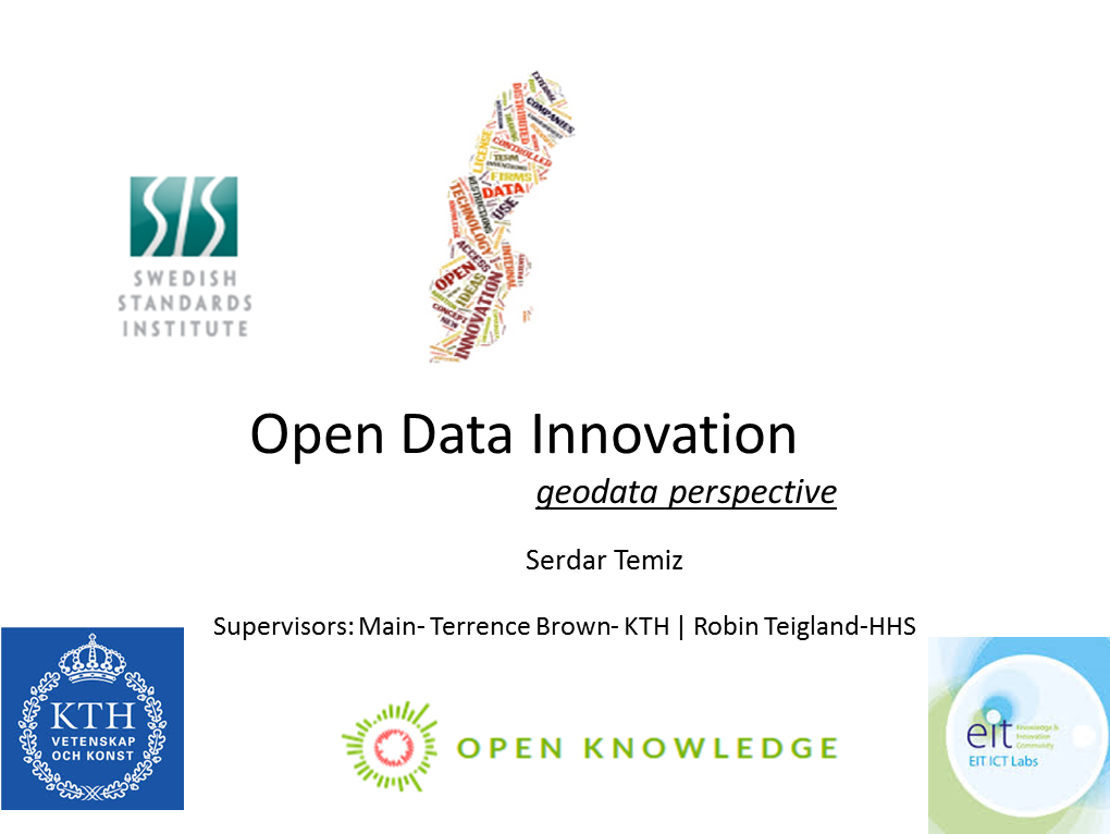Open Data Innovation with GeoData